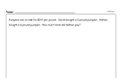 Multiplication - Multiplying Decimal Numbers Workbook (all teacher worksheets - large PDF)