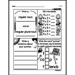 Fourth Grade Multiplication Worksheets - One-Digit Multiplication Worksheet #34