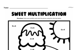 Fourth Grade Multiplication Worksheets - One-Digit Multiplication Worksheet #39