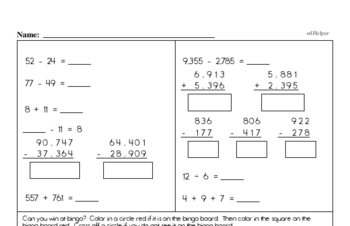 Multiplication - One-Digit Multiplication Mixed Math PDF Workbook for Fourth Graders