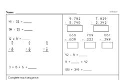 Fourth Grade Multiplication Worksheets - One-Digit Multiplication Worksheet #5