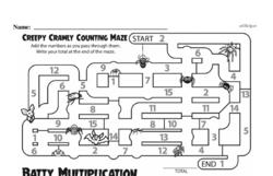 Fourth Grade Multiplication Worksheets - One-Digit Multiplication Worksheet #19