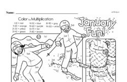 Fourth Grade Multiplication Worksheets - One-Digit Multiplication Worksheet #29