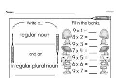 Fourth Grade Multiplication Worksheets Worksheet #37