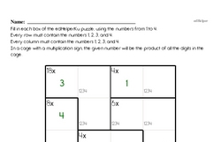 Multiplication Math Logic Puzzle