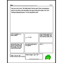 Multiplication Worksheets - Free Printable Math PDFs Worksheet #30