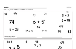 Multiplication Worksheets - Free Printable Math PDFs Worksheet #116