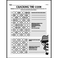 Fourth Grade Number Sense Worksheets - Analyze Arithmetic Patterns Worksheet #4