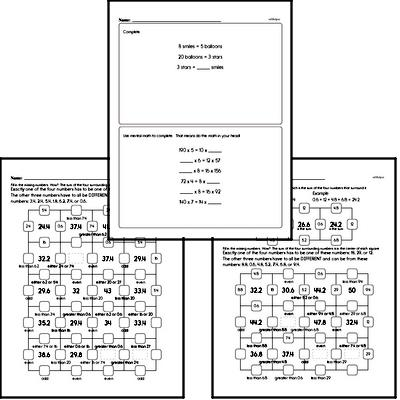 free fourth grade number sense pdf worksheets. Black Bedroom Furniture Sets. Home Design Ideas