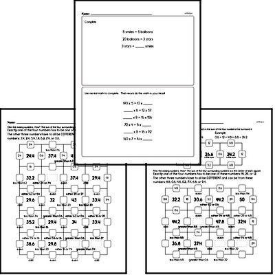 Number Sense - Analyze Arithmetic Patterns Workbook (all teacher worksheets - large PDF)
