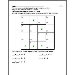 Fourth Grade Number Sense Worksheets - Analyze Arithmetic Patterns Worksheet #2