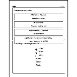 Number Sense - Converting Numerical Expressions to Different Forms Mixed Math PDF Workbook for Fourth Graders