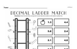 Fourth Grade Number Sense Worksheets - Decimal Numbers Worksheet #2