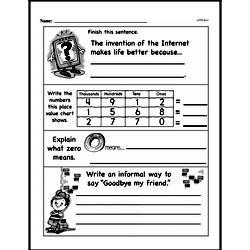 Fourth Grade Number Sense Worksheets - Multi-Digit Numbers Worksheet #3