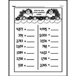 Fourth Grade Number Sense Worksheets - Multi-Digit Numbers Worksheet #4