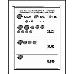 Fourth Grade Number Sense Worksheets - Multi-Digit Numbers Worksheet #7