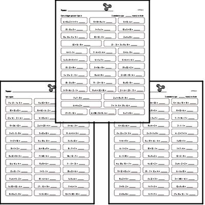Order of operations practice workbook
