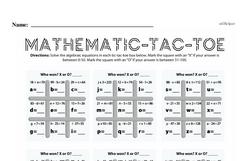 Fourth Grade Number Sense Worksheets - Solving Basic Algebraic Equations Worksheet #12