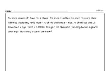 Number Sense - Solving Basic Algebraic Equations Workbook (all teacher worksheets - large PDF)