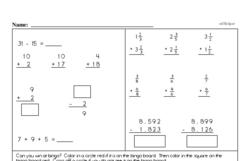 Fourth Grade Number Sense Worksheets - Solving Basic Algebraic Equations Worksheet #4