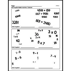 Fourth Grade Number Sense Worksheets - Solving Basic Algebraic Equations Worksheet #8