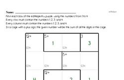 Fourth Grade Number Sense Worksheets - Solving Basic Algebraic Equations Worksheet #6
