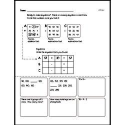 Fourth Grade Number Sense Worksheets - Solving Basic Algebraic Equations Worksheet #11