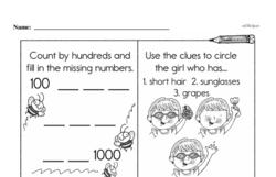 Fourth Grade Number Sense Worksheets - Three-Digit Numbers Worksheet #20
