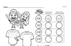 Fourth Grade Number Sense Worksheets - Three-Digit Numbers Worksheet #19
