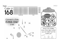 Fourth Grade Number Sense Worksheets - Three-Digit Numbers Worksheet #7