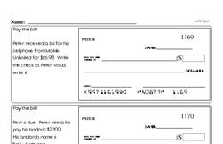 Fourth Grade Number Sense Worksheets - Three-Digit Numbers Worksheet #2