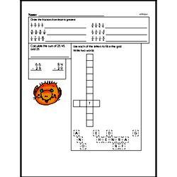 Fourth Grade Number Sense Worksheets - Three-Digit Numbers Worksheet #3