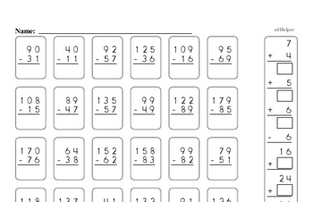 Number Sense - Two-Digit Numbers Workbook (all teacher worksheets - large PDF)