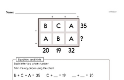 Fourth Grade Number Sense Worksheets - Two-Digit Numbers Worksheet #8