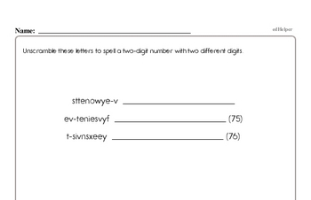 Number Sense Mixed Math PDF Workbook for Fourth Graders