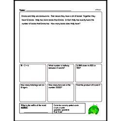 Fourth Grade Number Sense Worksheets Worksheet #13