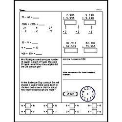 Fourth Grade Number Sense Worksheets Worksheet #67