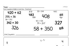 Fourth Grade Number Sense Worksheets Worksheet #71