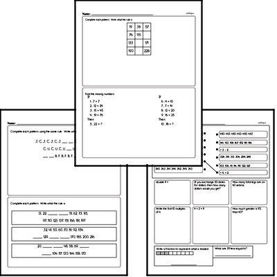 free fourth grade patterns pdf worksheets. Black Bedroom Furniture Sets. Home Design Ideas