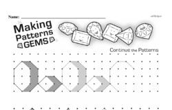 Pattern Worksheets - Free Printable Math PDFs Worksheet #46