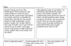 Fourth Grade Rounding Worksheets Worksheet #1