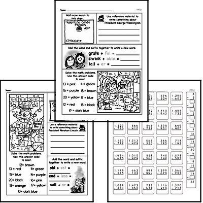 Subtraction - Multi-Digit Subtraction Workbook (all teacher worksheets - large PDF)