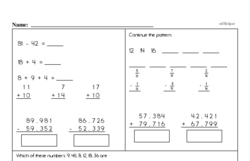 Fourth Grade Subtraction Worksheets - Three-Digit Subtraction Worksheet #2
