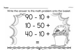 Fourth Grade Subtraction Worksheets Worksheet #23