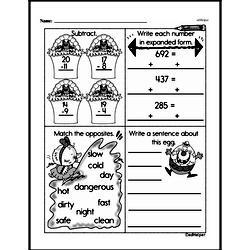 Fourth Grade Subtraction Worksheets Worksheet #32