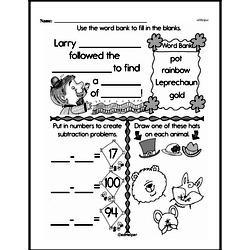 Fourth Grade Subtraction Worksheets Worksheet #24