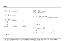 Subtraction Worksheets - Free Printable Math PDFs Worksheet #347