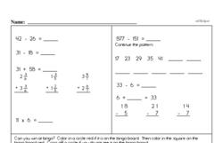 Fourth Grade Subtraction Worksheets Worksheet #6