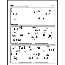 Subtraction Worksheets - Free Printable Math PDFs Worksheet #134