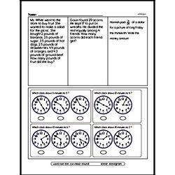 Fourth Grade Subtraction Worksheets Worksheet #43